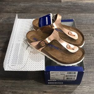 Birkenstock gizeh metallic copper size 37